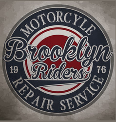 Motorcycle custom motorcycle label vintage vector