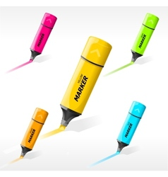 multi-colored markers vector image