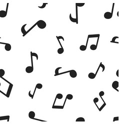 music note seamless pattern background business vector image