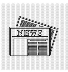 newspaper icon design vector image
