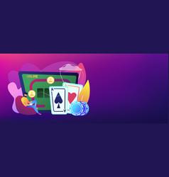 online poker concept banner header vector image