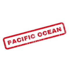 Pacific Ocean Rubber Stamp vector image