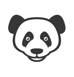 Panda logo sign on white background vector