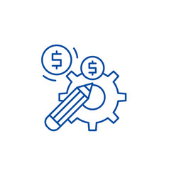 profitable solution line icon concept profitable vector image