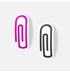 realistic design element paper clip vector image