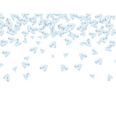 realistic detailed 3d shiny bright diamond card vector image