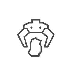 robotic claw line icon vector image