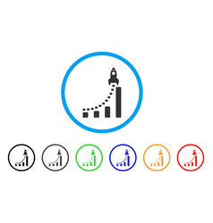 rocket business start rounded icon vector image