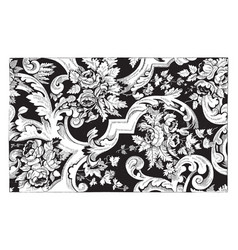 rug is made out double cotton in a floral vector image