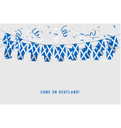scotland garland flag with confetti vector image