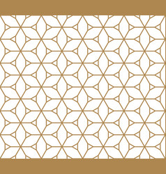 Seamless pattern based on kumiko pattern vector