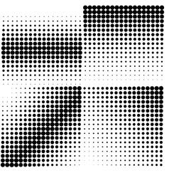 set 4 halftones vector image