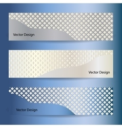 Set of mosaic banners vector image