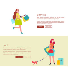 shopping and sale design on vector image