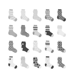 Sock icon collection vector image