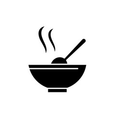 soup black icon sign on isolated vector image