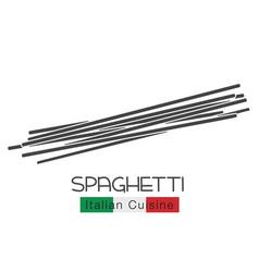Spaghetti pasta glyph icon vector