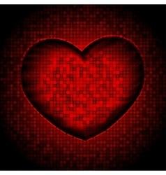 Techno heart background vector