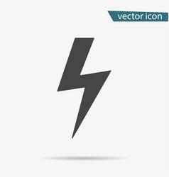 thunder icon lightning isolated modern si vector image