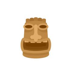 tiki wood idol icon flat style vector image