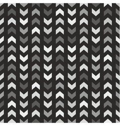 Tile pattern with grey and black arrows on black vector image