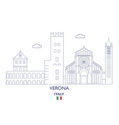 verona city skyline vector image