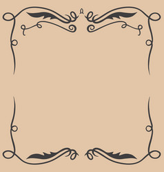 vintage empty frame in wild west style design vector image