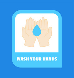 Wash your hands sign sticker design vector
