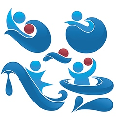 water actions vector image
