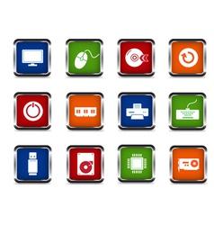 web computer icon set vector image