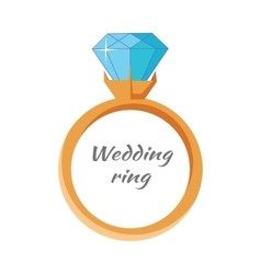 Wedding Ring Icon Isolated Jewels Concept vector