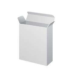 White software cardboard carton package box open vector