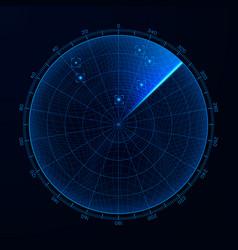 Blip hud interface element radar target detection vector