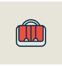 briefcase icon vector image vector image