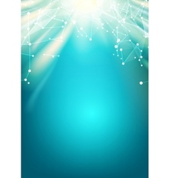 Bright sun light vector image vector image