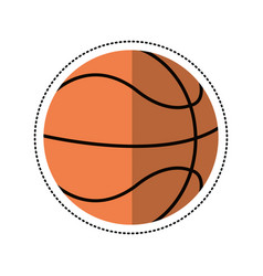 cartoon basketball ball play vector image