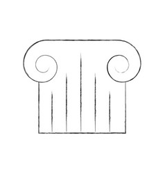 museum column isolated icon vector image vector image