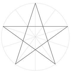 correct shape template geometric shape pentagram vector image vector image