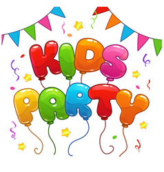 kids party poster template vector image