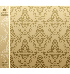 seamless royal background flower pattern vector image vector image