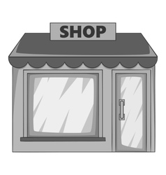 Shop building icon gray monochrome style vector image