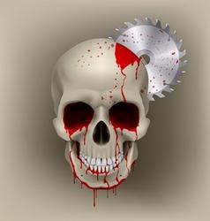 Skull dead vector image vector image