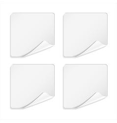 White sticker vector image vector image