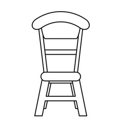 wooden chair vintage thin line vector image vector image