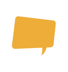 Yellow bubble speech message talk chat icon vector