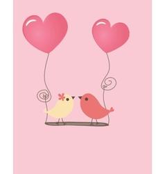 Birds couple in love vector image vector image
