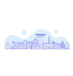 copenhagen skyline denmark city buildings vector image
