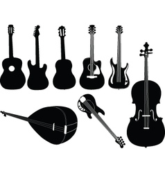 music instruments 2 vector image
