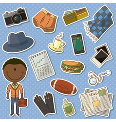 African-American man and male things vector image vector image
