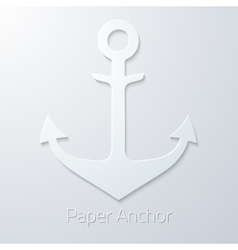 Antique travel paper anchor flat icon vector image vector image